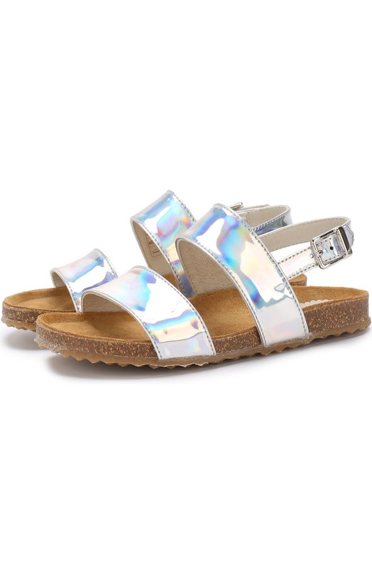 Il Gufo | Серебряный Лаковые сандалии на ремешке Il Gufo | Clouty