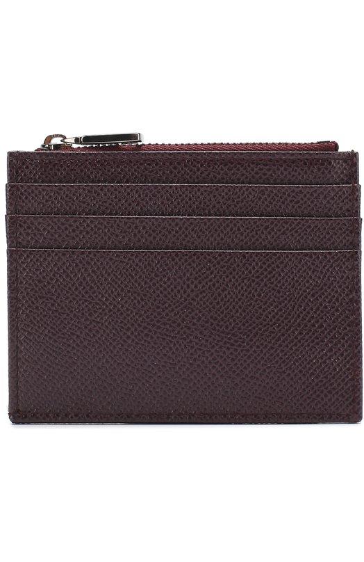Dolce & Gabbana | Бордовый Кожаный футляр для кредитных карт с отделением для монет Dolce & Gabbana | Clouty