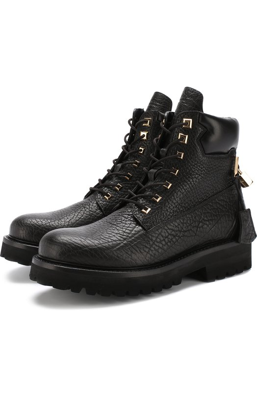 Buscemi | Черный Высокие кожаные ботинки на шнуровке Buscemi | Clouty