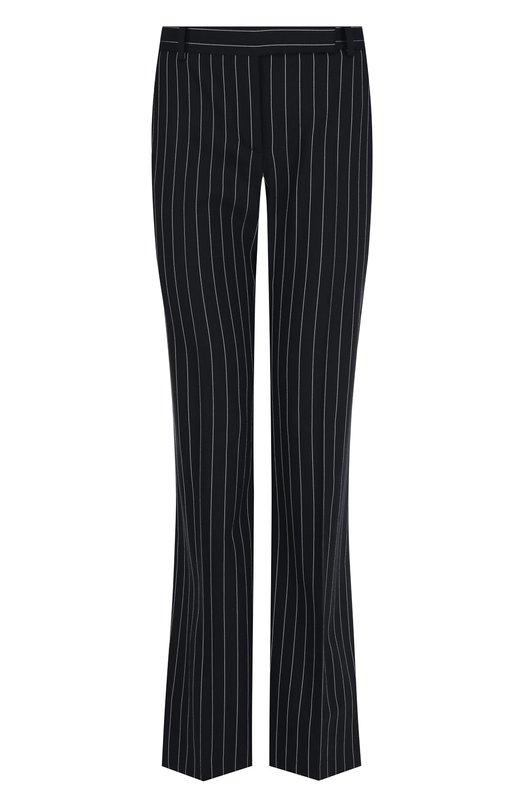 Alexander McQueen | Черно-белый Расклешенные шерстяные брюки в полоску Alexander McQueen | Clouty
