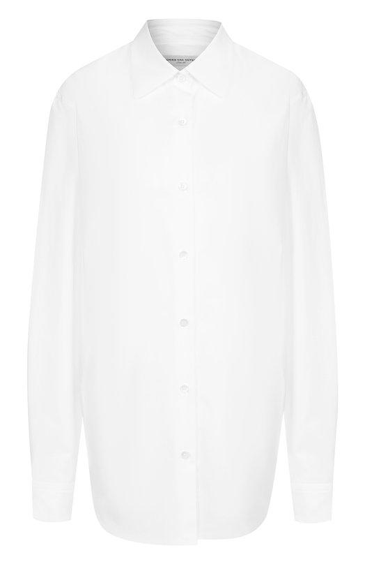 Dries Van Noten | Белый Однотонная хлопковая блуза Dries Van Noten | Clouty