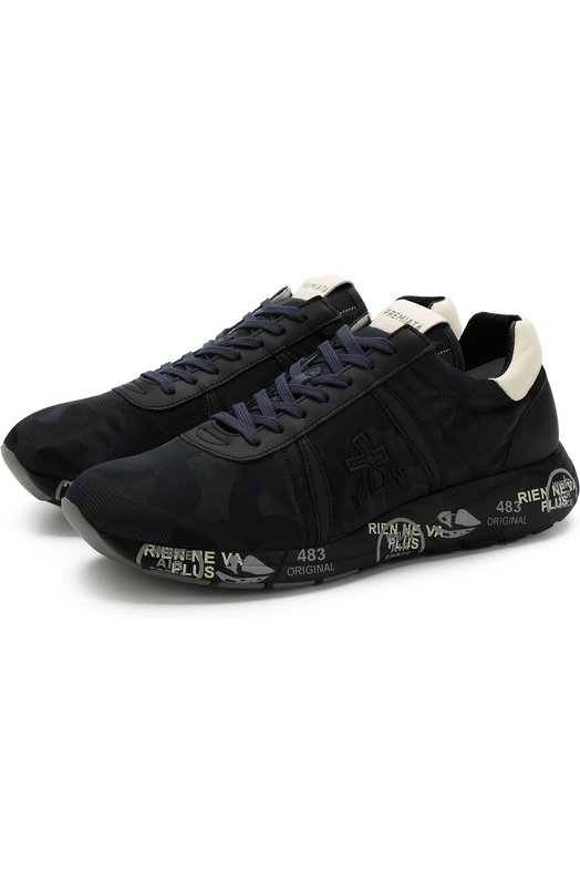 Premiata | Темно-синий Комбинированные кроссовки Mattew на шнуровке Premiata | Clouty