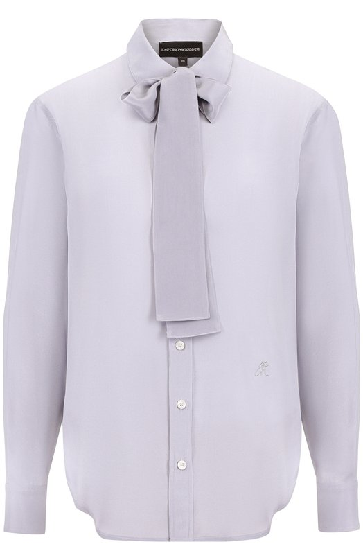 Emporio Armani | Голубой Шелковая блуза с воротником аскот Emporio Armani | Clouty