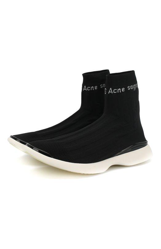 Acne Studios | Черно-белый Текстильные кроссовки Acne Studios | Clouty