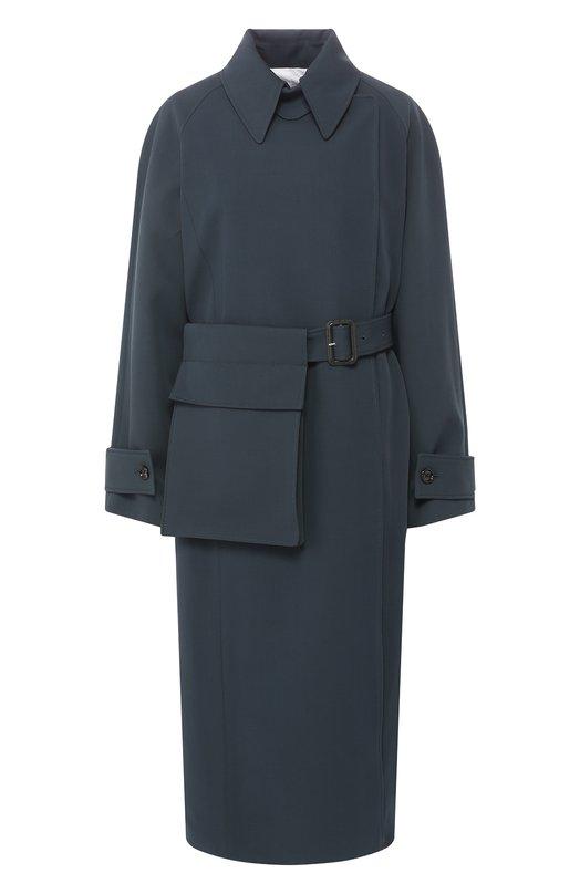 JOSEPH | Темно-зеленый Шерстяное пальто с поясом Joseph | Clouty