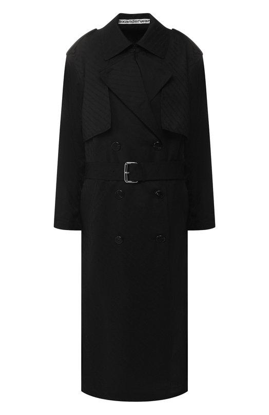 Alexander Wang | Черный Шерстяное пальто Alexander Wang | Clouty