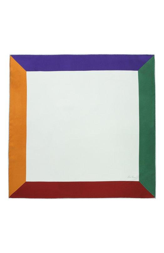 Loro Piana | Разноцветный Шелковый платок L'Infinito Loro Piana | Clouty