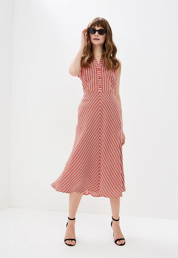 adL   красный Женское летнее красное платье adL   Clouty