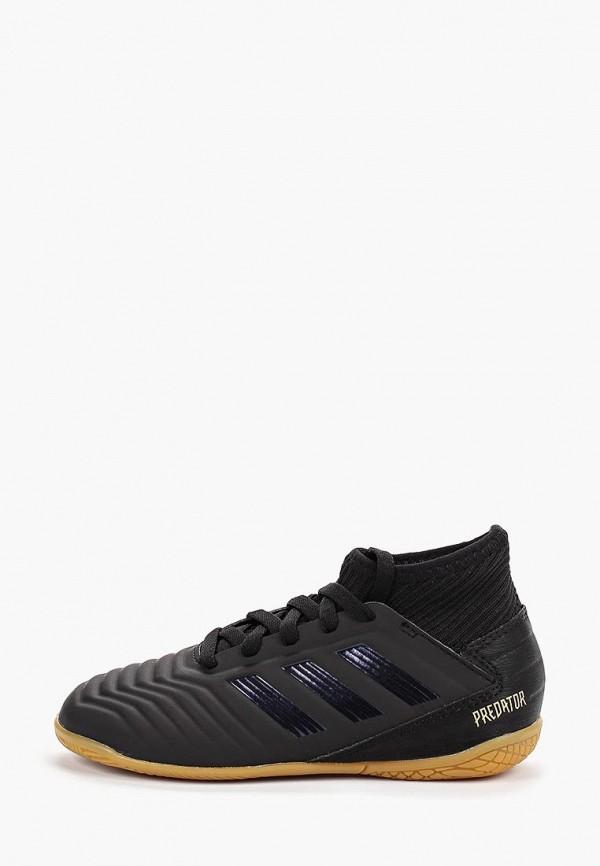 adidas | черный Черные зальные бутсы adidas искусственный материал для мальчиков | Clouty