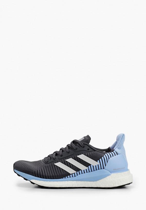 adidas   серый Женские серые кроссовки adidas резина   Clouty