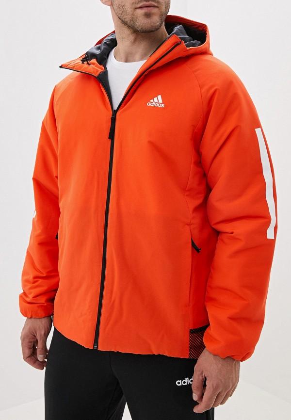 adidas | оранжевый Мужская оранжевая утепленная куртка adidas | Clouty