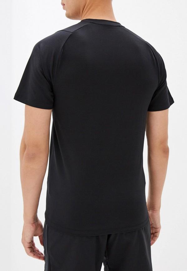 adidas   черный Мужская черная спортивная футболка adidas   Clouty