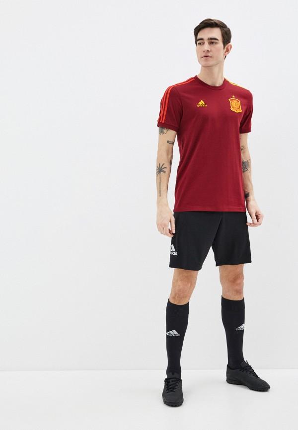 adidas | бордовый Мужская бордовая футболка adidas | Clouty