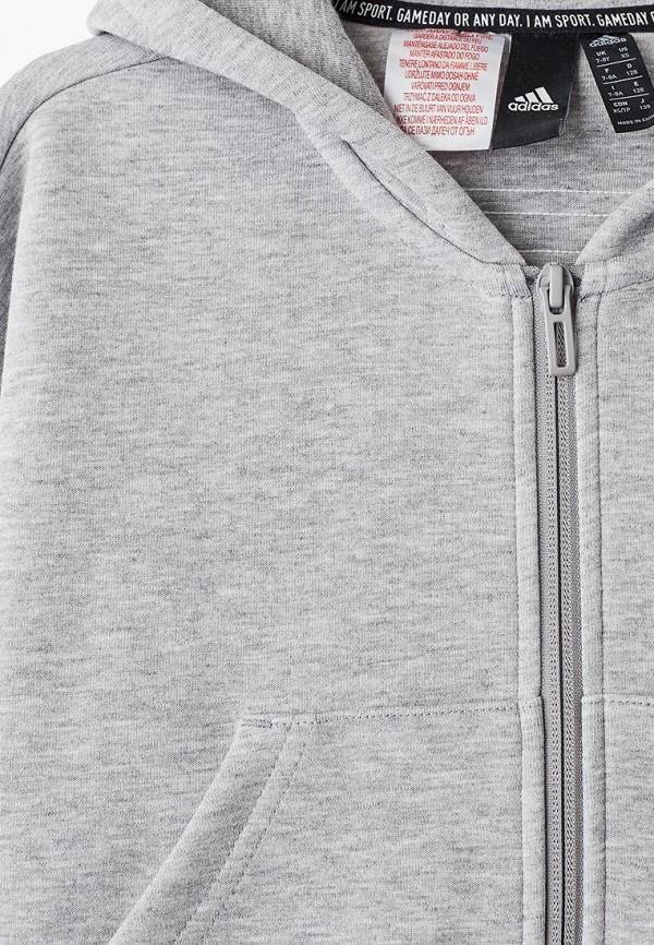 adidas | серый Серая толстовка adidas для девочек | Clouty