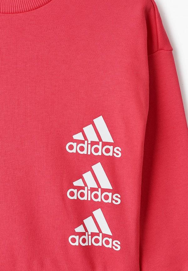 adidas | Розовый свитшот adidas для девочек | Clouty