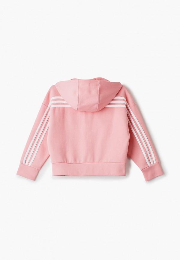 adidas | розовый Розовая толстовка adidas для девочек | Clouty