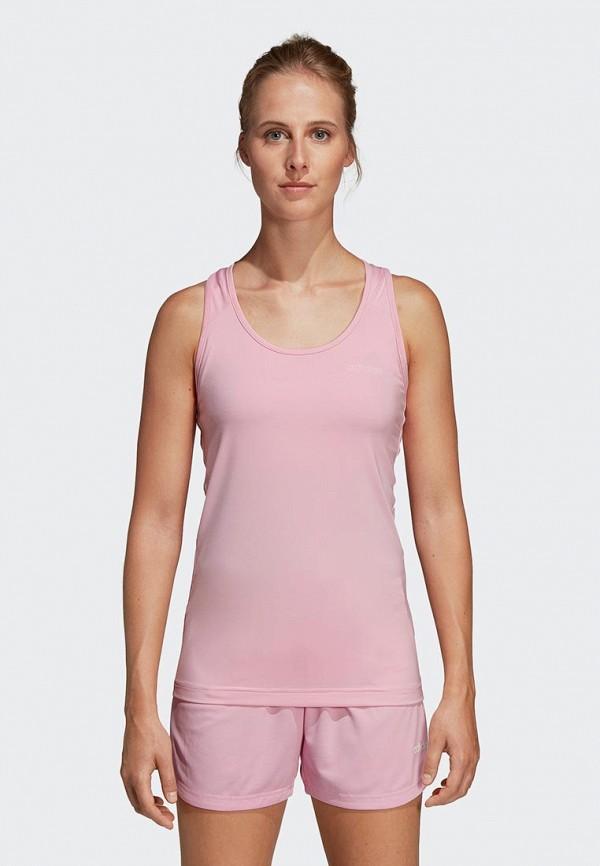 adidas | розовый Женская розовая спортивная майка adidas | Clouty