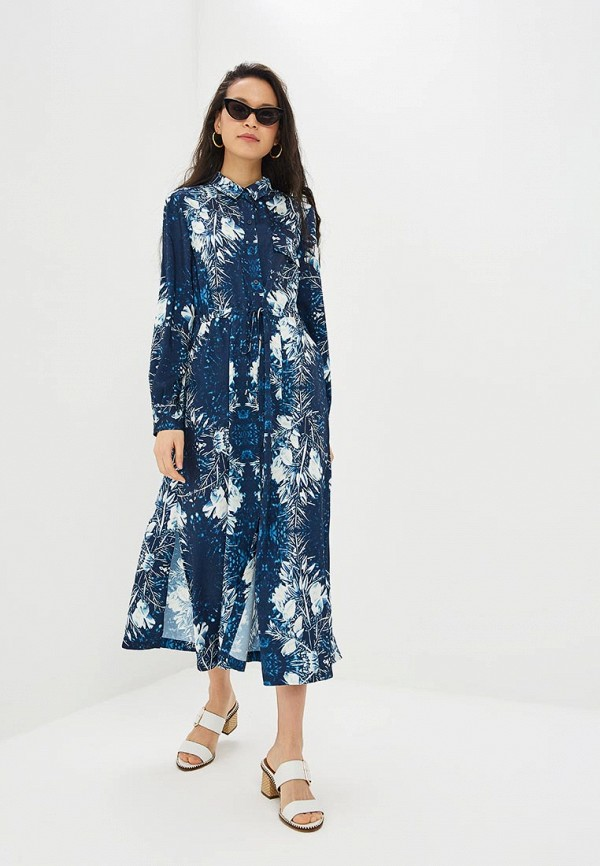 Adolfo Dominguez   синий Женское синее платье Adolfo Dominguez   Clouty