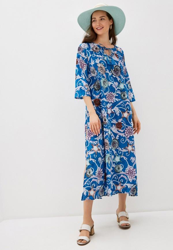 Allegri | синий Летнее синее пляжное платье Allegri | Clouty