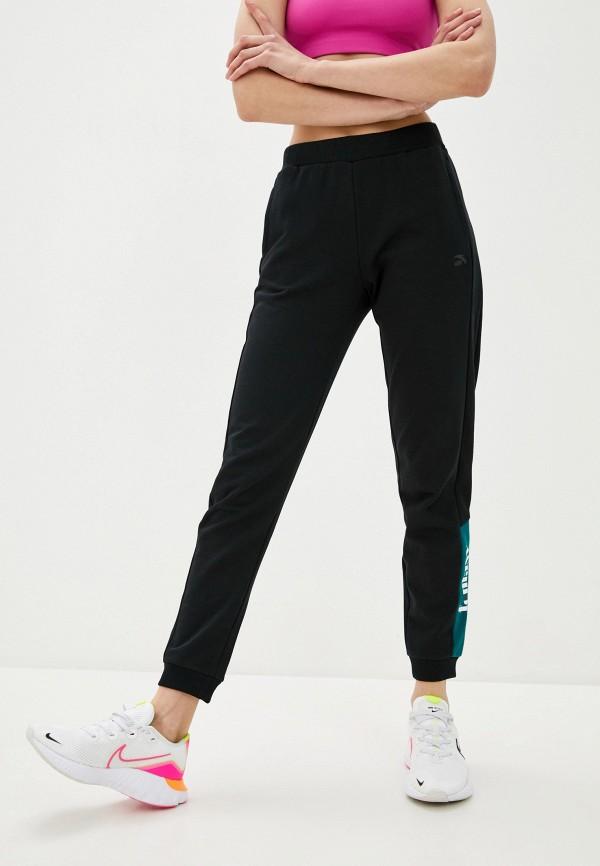 Anta | черный Женские черные спортивные брюки Anta | Clouty