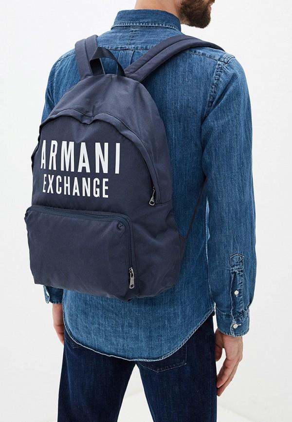 Armani Exchange | Мужской синий рюкзак Armani Exchange | Clouty