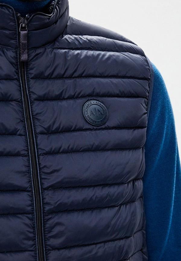 Armani Exchange | Мужской синий утепленный жилет Armani Exchange | Clouty