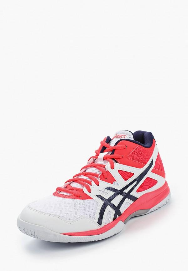 ASICS | белый Женские белые кроссовки ASICS резина | Clouty