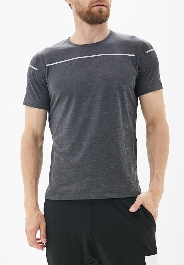 ASICS | серый Мужская серая спортивная футболка ASICS | Clouty