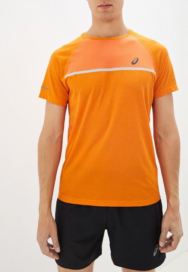 ASICS | оранжевый Мужская оранжевая спортивная футболка ASICS | Clouty