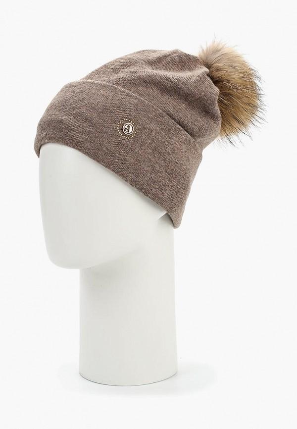 Avanta   коричневый Женская зимняя коричневая шапка Avanta   Clouty