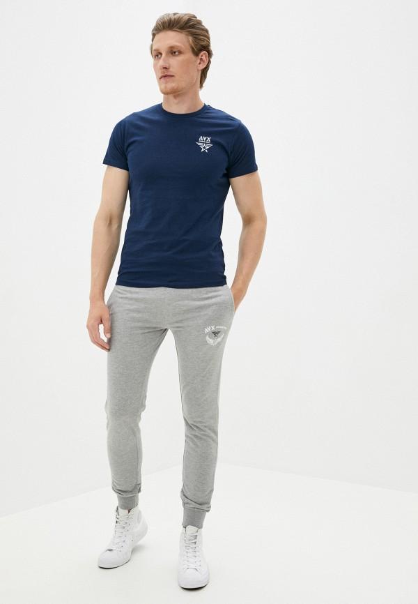 Avirex | серый Мужские серые спортивные брюки Avirex | Clouty