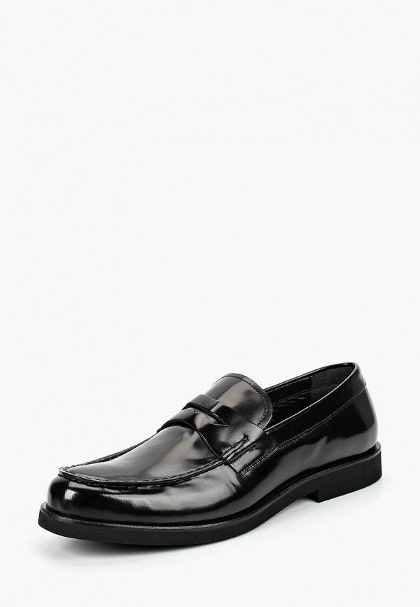 Bata | черный Мужские черные лоферы Bata полимер | Clouty