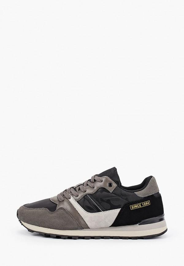 Bata   серый Мужские серые кроссовки Bata искусственный материал, резина   Clouty