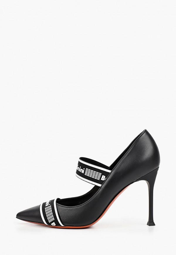 Baldinini | черный Женские черные туфли Baldinini натуральная кожа | Clouty