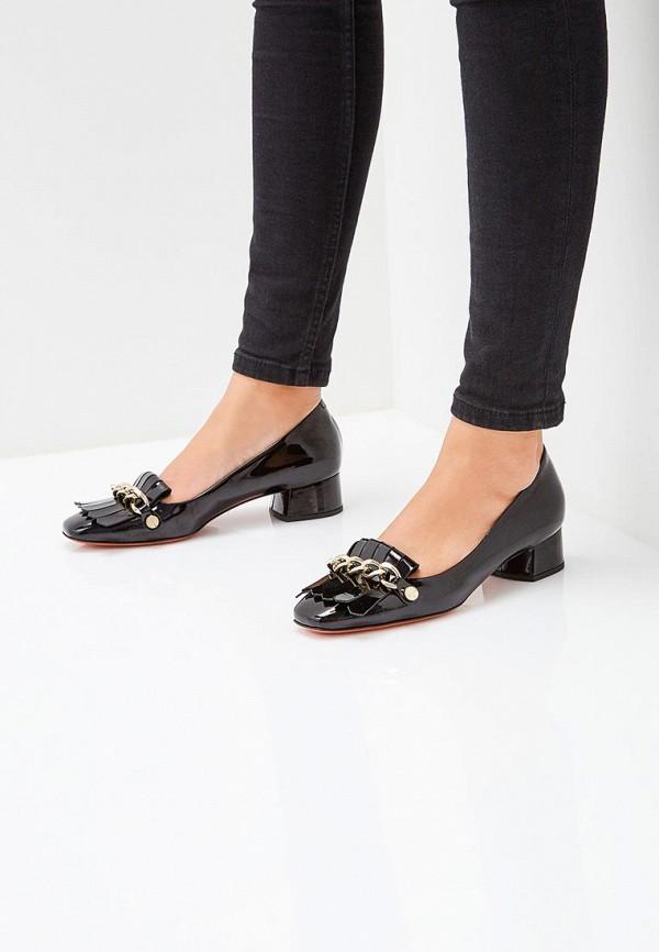 Baldinini   черный Черные туфли Baldinini натуральная кожа   Clouty