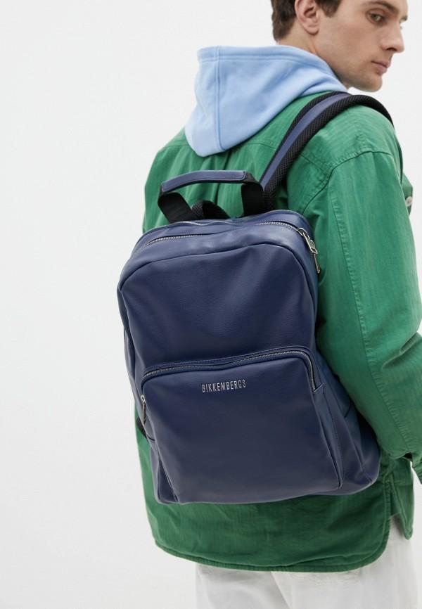 Bikkembergs | Мужской синий рюкзак Bikkembergs | Clouty