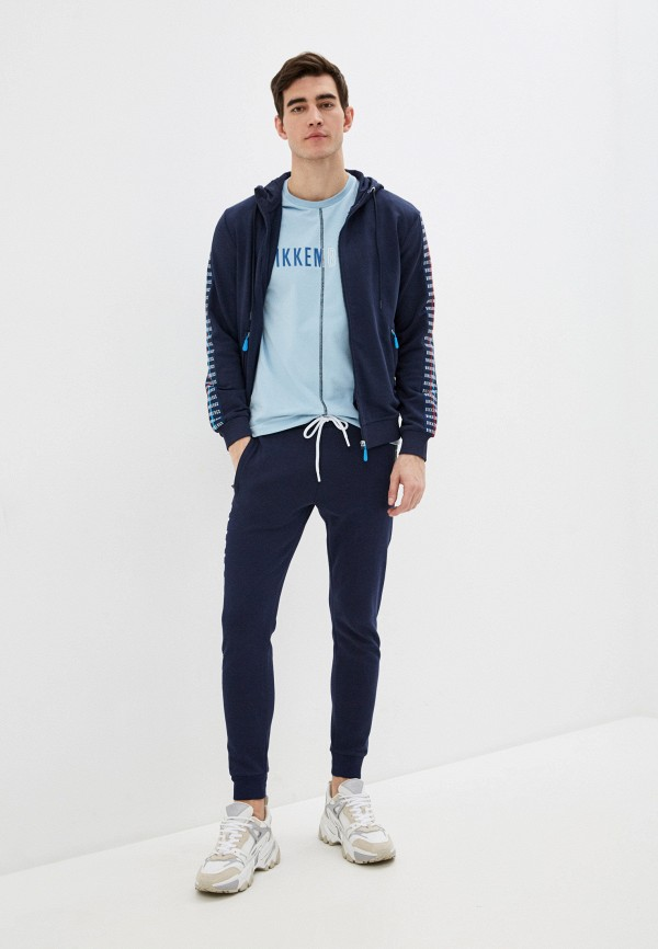 Bikkembergs | синий Мужские синие спортивные брюки Bikkembergs | Clouty