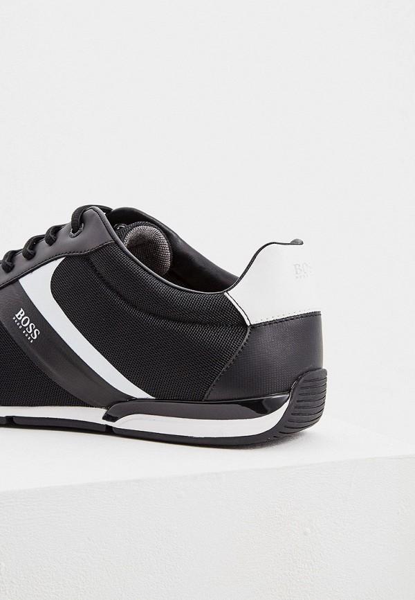 BOSS | черный Мужские черные кроссовки BOSS резина | Clouty