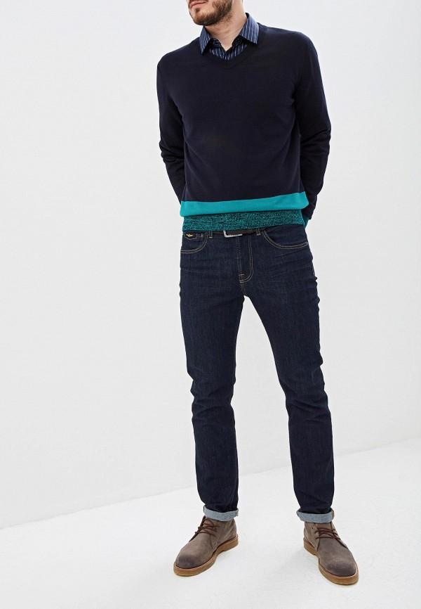 BOSS | Мужской синий пуловер BOSS | Clouty