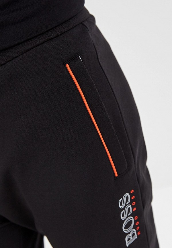 BOSS | черный Мужские черные домашние брюки BOSS | Clouty