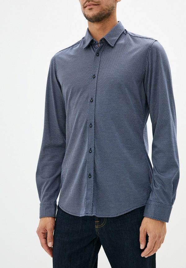 BOSS | синий Мужская синяя рубашка BOSS | Clouty