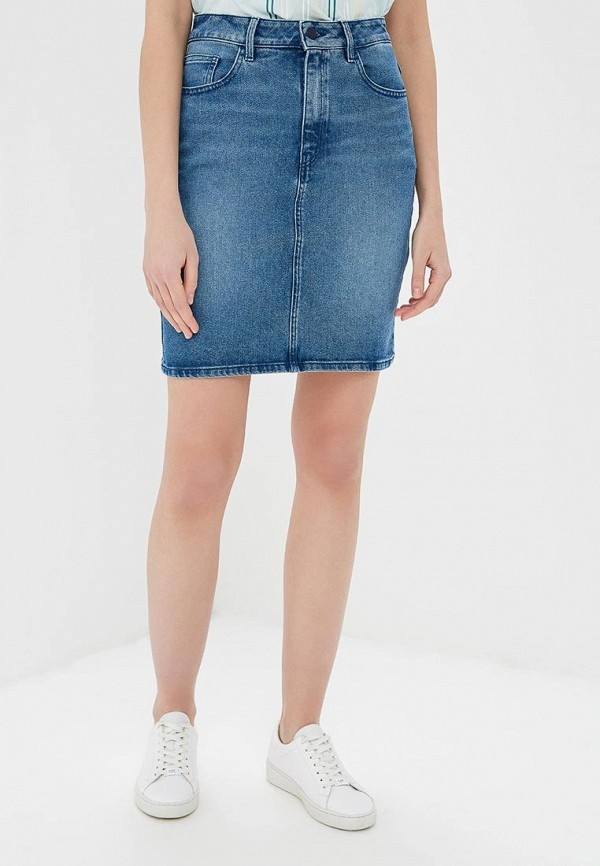 BOSS | синий Синяя джинсовая юбка BOSS | Clouty