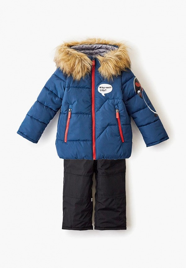 Boom | синий, черный Зимний утепленный костюм Boom для мальчиков | Clouty