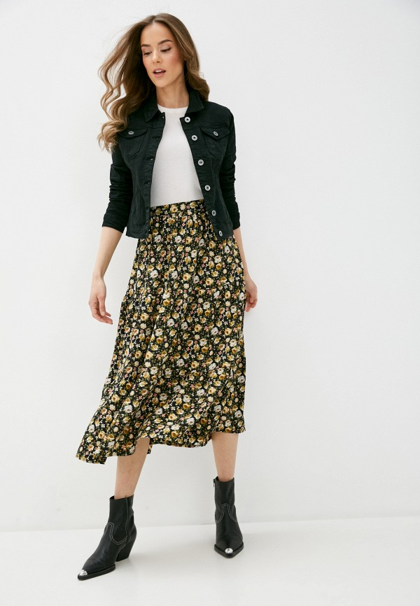 B. Style   черный Женская черная джинсовая куртка B. Style   Clouty