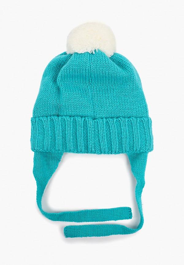 Button Blue | бирюзовый Зимняя бирюзовая шапка Button Blue для девочек | Clouty