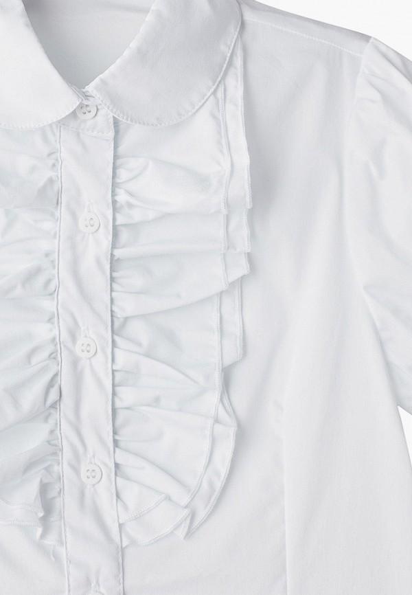 Button Blue | белый Белая блуза Button Blue для девочек | Clouty