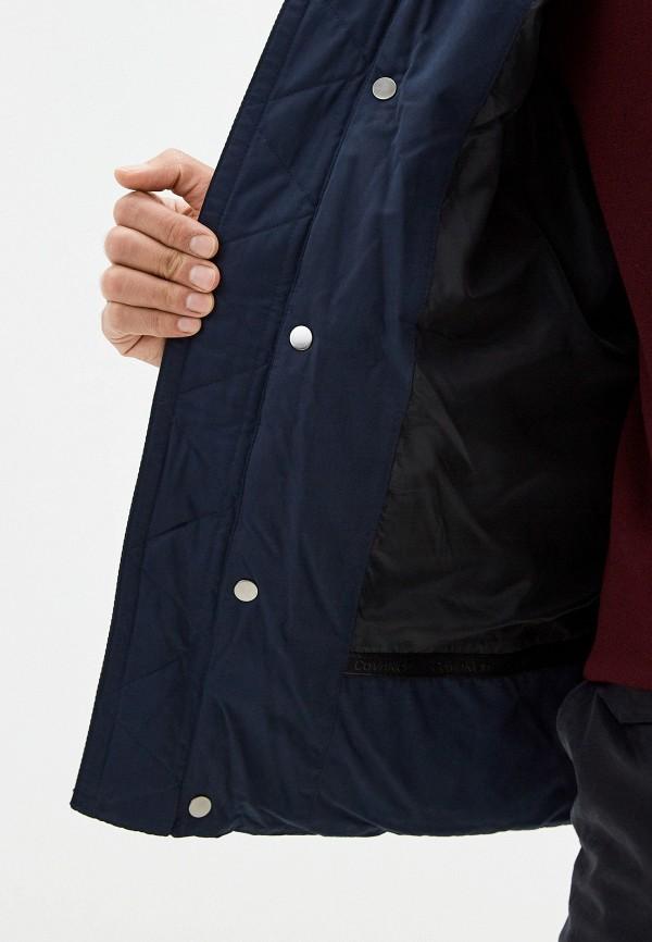 Calvin Klein | синий Мужская синяя утепленная куртка Calvin Klein | Clouty