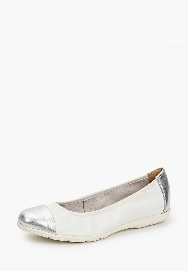 Caprice | белый Женские белые балетки Caprice резина | Clouty