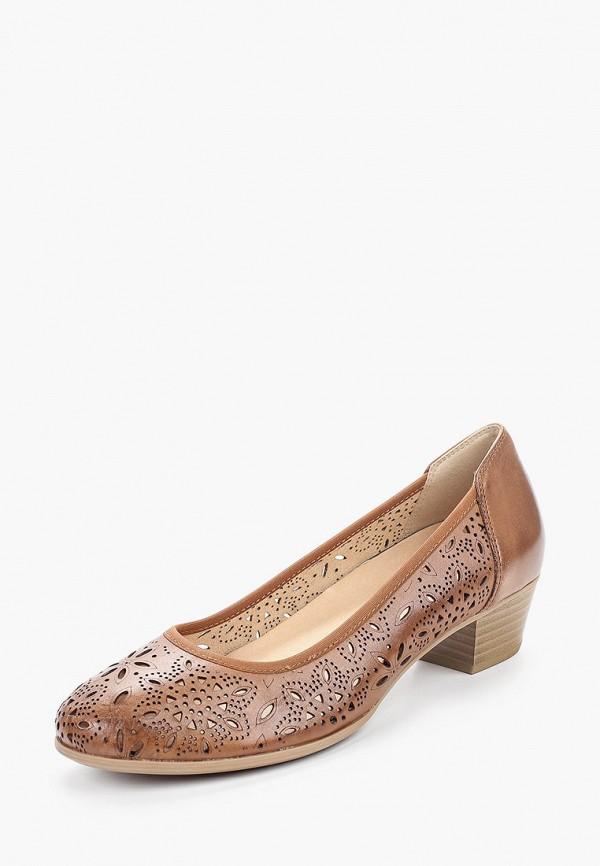 Caprice   коричневый Женские коричневые туфли Caprice искусственный материал   Clouty