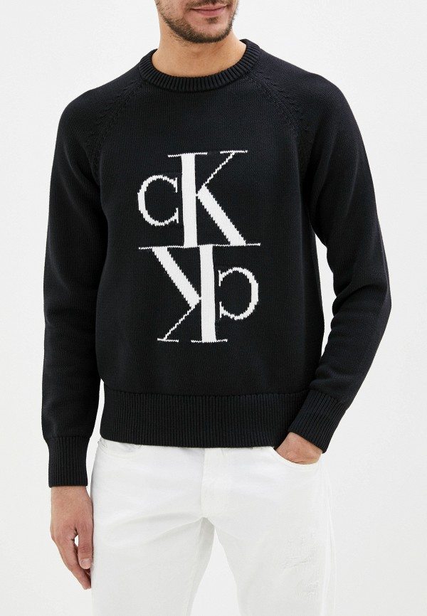 Calvin Klein Jeans | Мужской черный джемпер Calvin Klein Jeans | Clouty